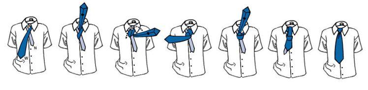 Как завязать галстук в технике Windsor фото.