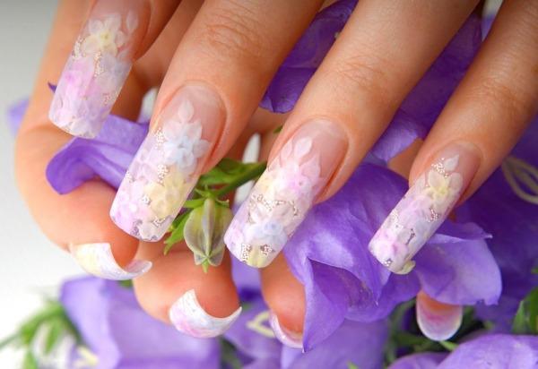 Как сделать фон на ногтях