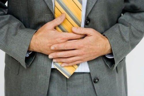 У мужчины язва желудка
