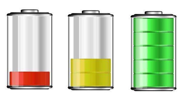 Уровень зарядки аккумулятора