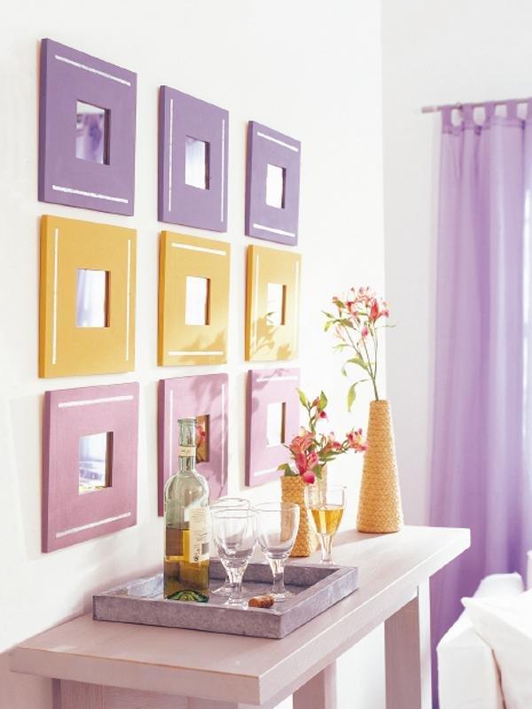 Стена оформленная фотографиями