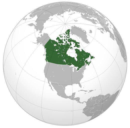 Местоположение Канады