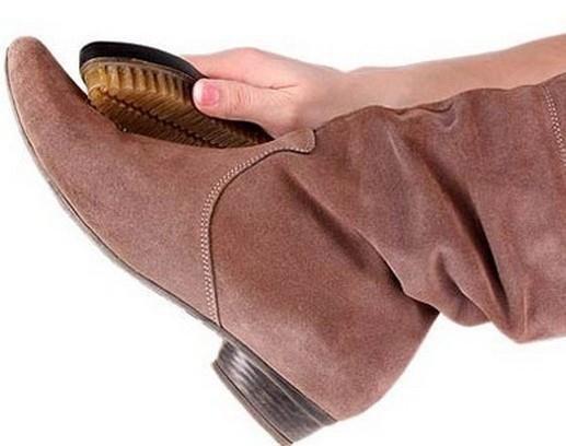 Как чистить нубуковую обувь в домашних условиях: правила, средства, щетки
