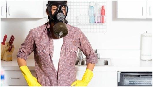 Уборка дома химическим составом