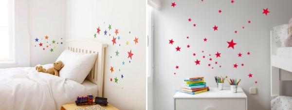 Украшение детской комнаты звездами