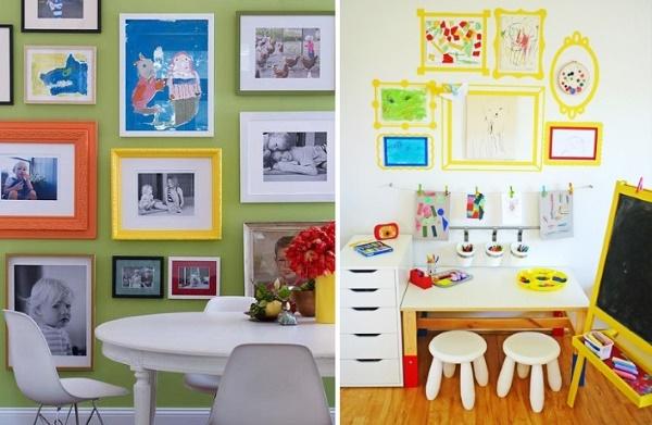 Украшение детской комнаты рисунками
