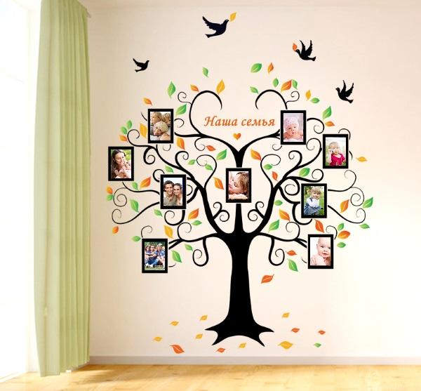 Генеалогическое древо в интерьере детской