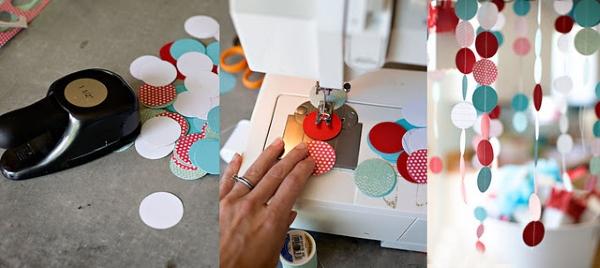 Изготовление своими руками гирлянд из бумаги