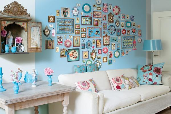 Декорирование стен фотографиями и картинками