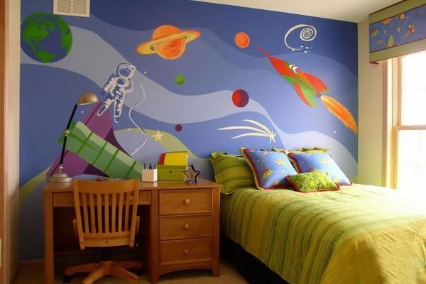 Роспись стен в детской мальчика