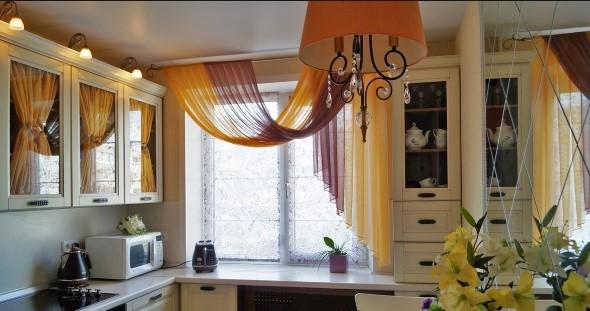 Пример ламбрекена на кухню